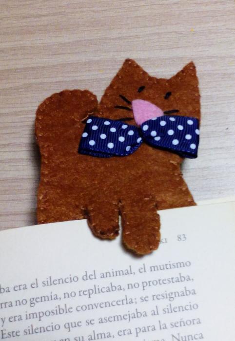 Marca páginas gatito